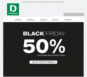 Dosenbach Black Friday