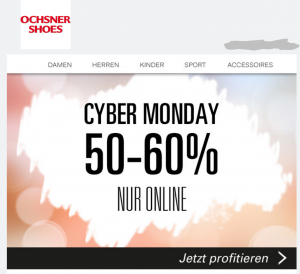 Ochsner Shoes Cyber Monday Deals