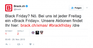 Brack zum Black Friday