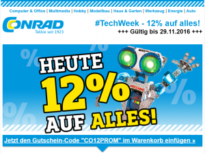 Conrad #techweek Black Friday Angebote