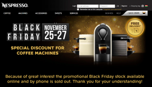 Nespresso Black Friday Angebot in Ungarn