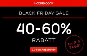 Black Friday hotels.com