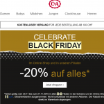 C&A Black Friday Deal