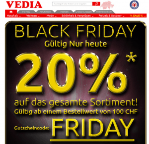 Black Friday Vedia