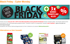 ZooPlus Black Friday Angebot