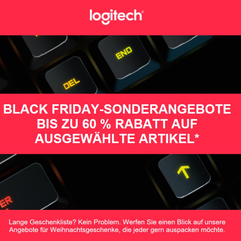 Black Friday bei Logitech