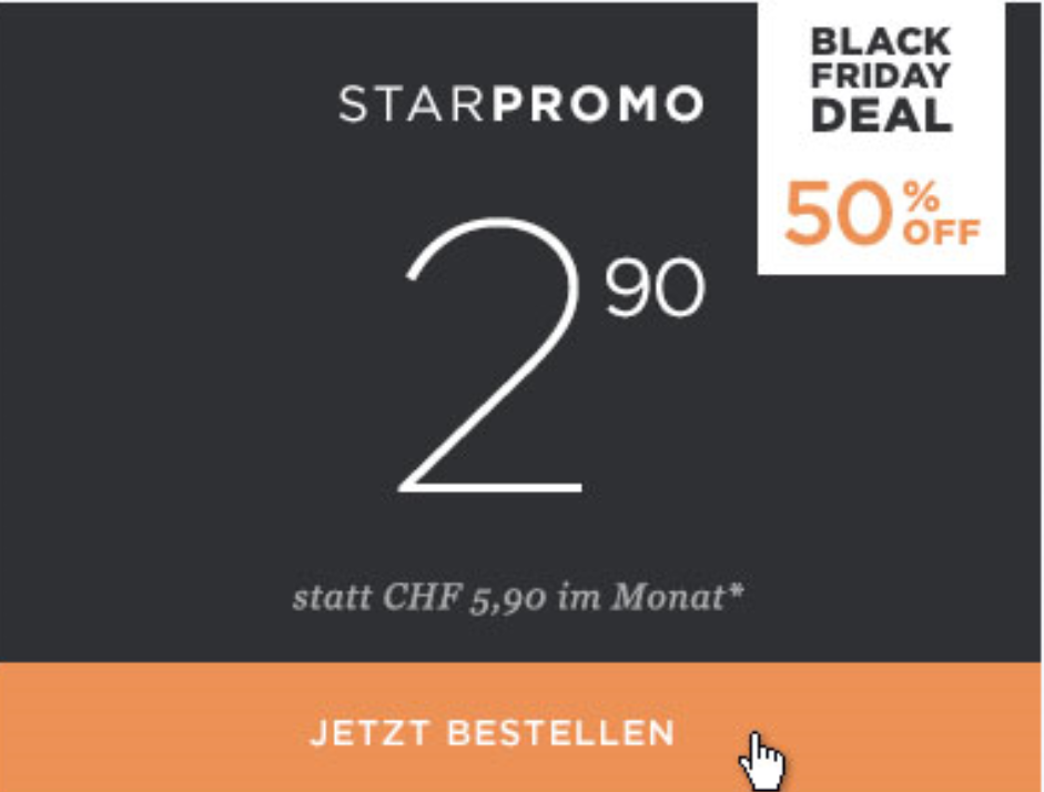 webhosting inkl designer f r chf monat bei hoststar black friday schweiz 2018. Black Bedroom Furniture Sets. Home Design Ideas