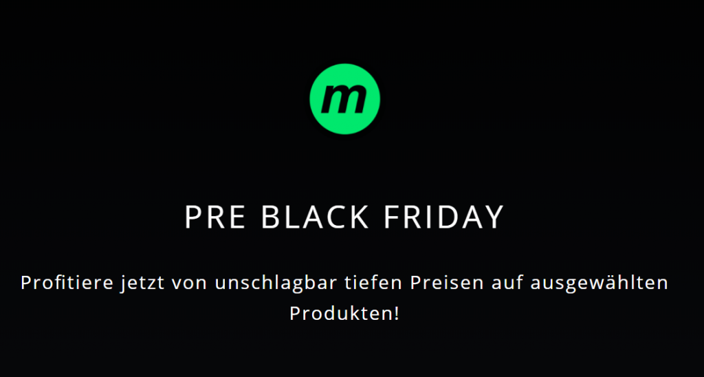 Microspot Pre Black Friday Black Friday Schweiz 2019