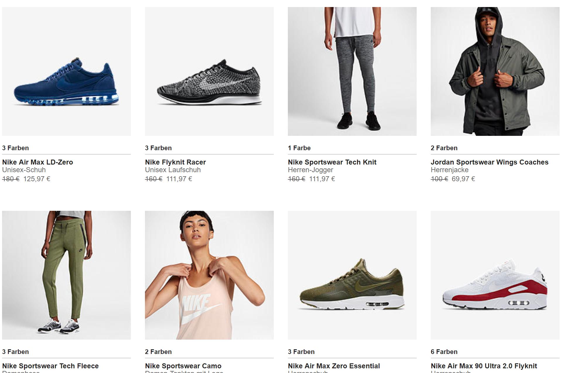 11% zusätzlich auf SALE Artikel bei Nike - Black Friday ...