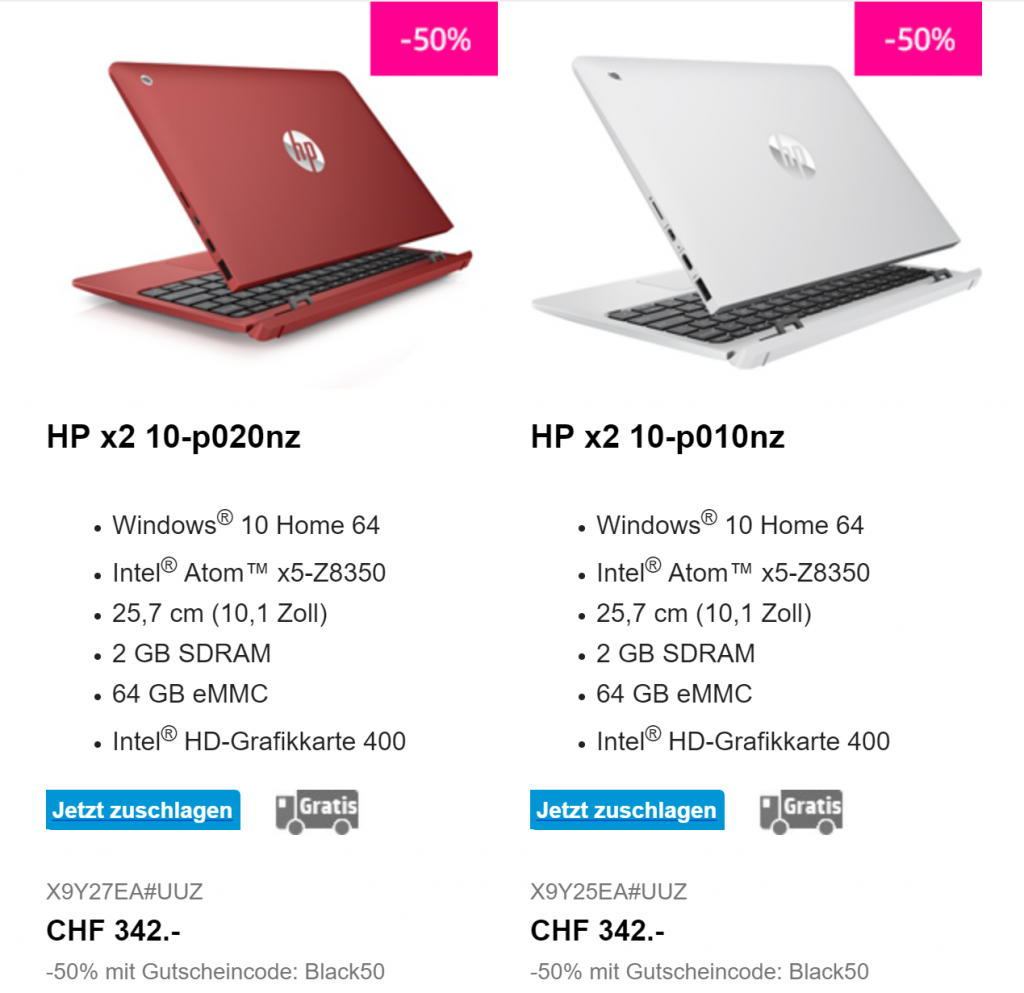 Hewlett Packard Black Friday
