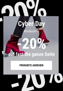 Cyber Days bei Sarenza