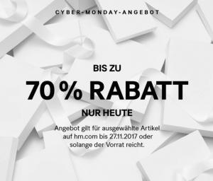Cyber Monday H&M