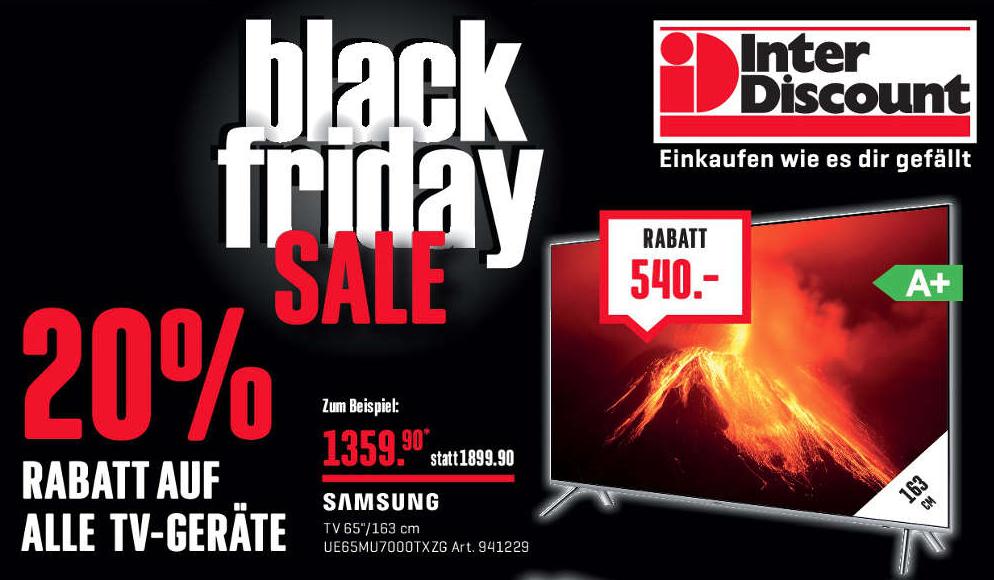 Black Friday Fernseher Deals : interdiscount black friday 2019 die besten elektronik deals im berblick ~ Frokenaadalensverden.com Haus und Dekorationen