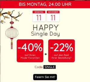 Singles Day bei LaRedoute