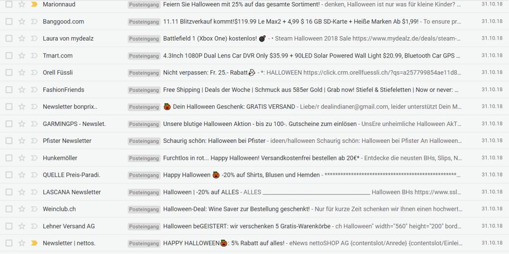 Mailbox vor Halloween