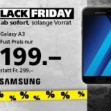 Zahlreiche Spezialangebote zum Black Friday bei Fust, z.B. SamsungGalaxy A3 für CHF 199.- statt CHF 299.-