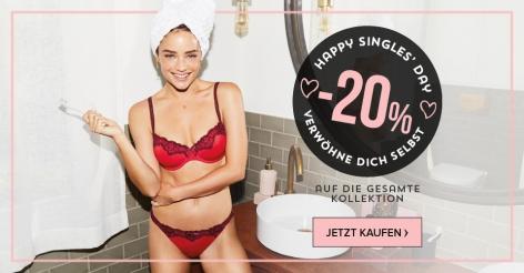 20% auf alles bei Hunkemöller zum Singles Day