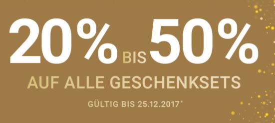 20-50% auf Geschenksets bei Import Parfumerie