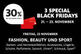 FREITAG 23.11.: FASHION, BEAUTY, SPORT rabattiert bei Manor