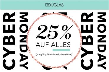 25% Rabatt auf alles bei Douglas!