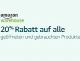 20% auf Warehousedeals bei Amazon