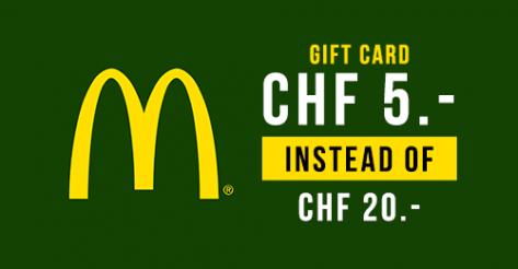 Ankündigung: 20.- McDonalds Gutschein für 5 Franken bei DeinDeal