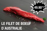 Filet de bœuf d'Australie 49.90 CHF/kg chez meat4you
