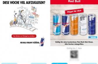 Gratis eine oder zwei Dosen Red Bull via Kiosk App und Weblink