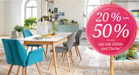20% – 50% Rabatt auf alle Tische und Stühle bei toptip – Black Friday 2017