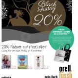 20% auf fast alles bei Orell Füssli